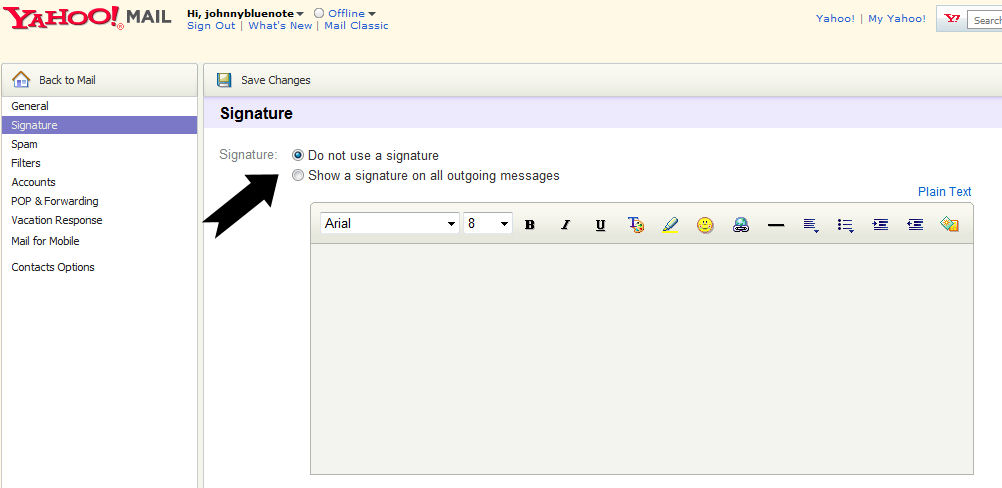 How To Add A Signature In Yahoo