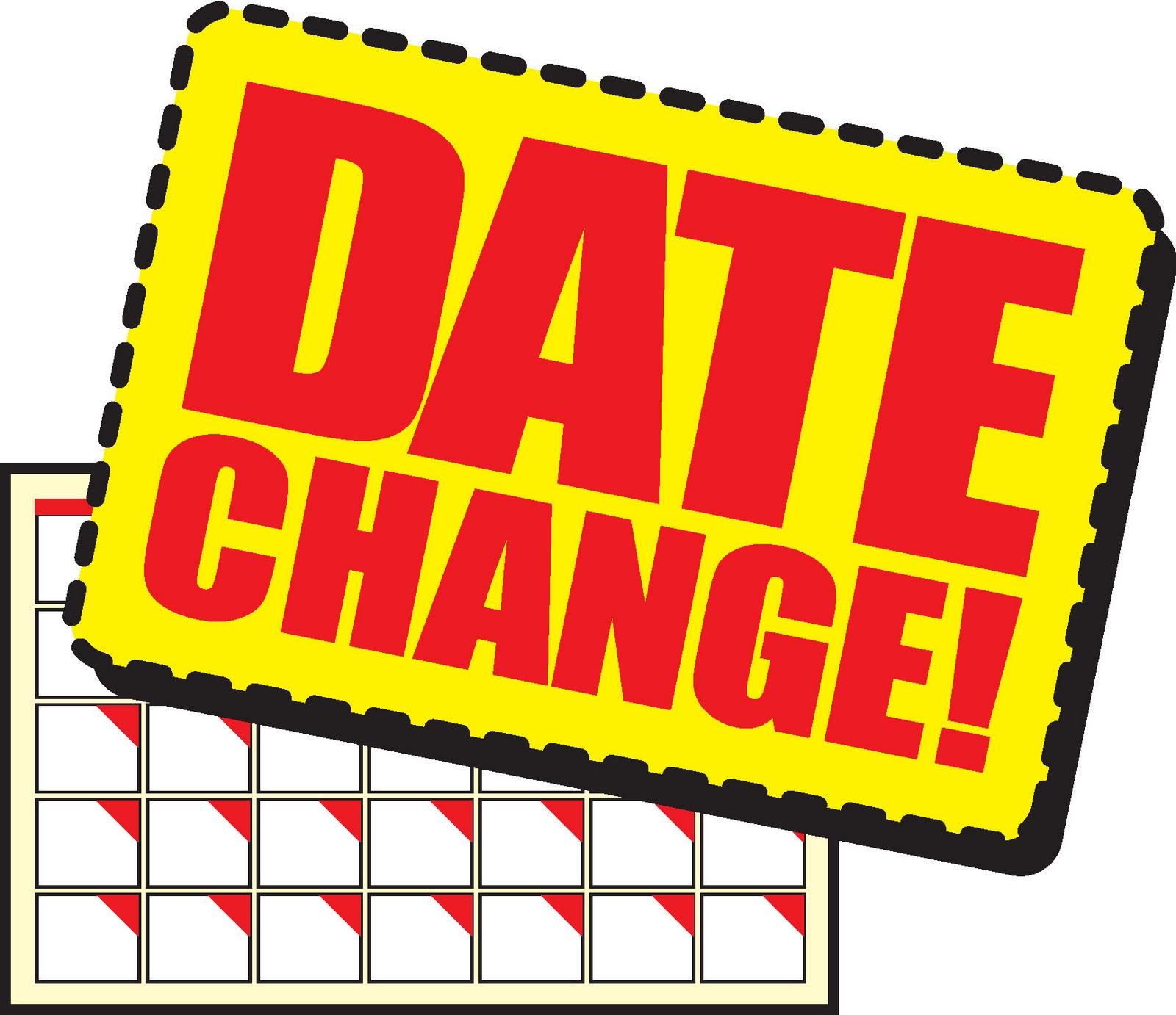 Seminar – Change of Date